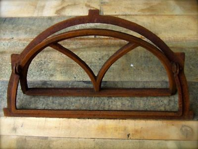 Iron Window, Semicircular, Window, Barn Window, like Antique, Fold-Up, New