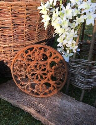 Grid as Antique Decoration, Grid round, Fireplace Grid 24 Cm
