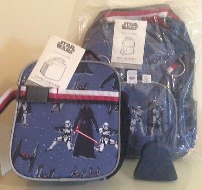 Pottery Barn SCHOOL SET Star Wars LUNCH BOX ICE BAG darth vader superhero BOY