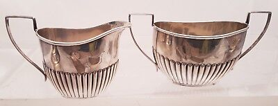 Sterling Sugar Bowl And Creamer