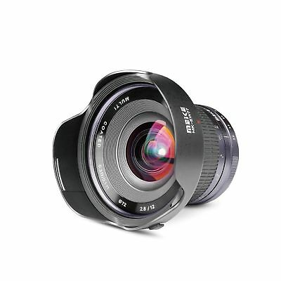 Meike 12mm f/2.8 Ultra Wide Angle Fixed APS-C Lens with Removeable Hood for F...