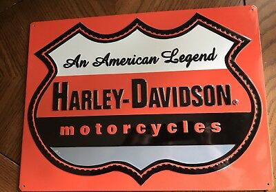 Ande Rooney HARLEY DAVIDSON AN AMERICAN LEGEND Tin HD Motorcycle Garage Sign
