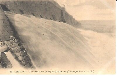 Carte Postale - Afrique - Egypte - Assuan - The Great Dam Letting