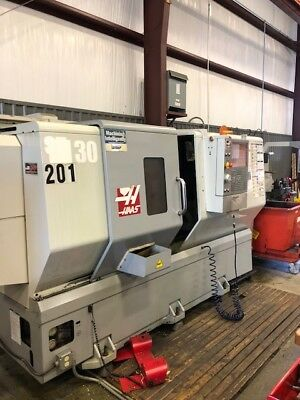 "Haas ST-30T CNC Turning Center Lathe Tailstock Rigid Tap 30hp 10"" Chuck 2009"
