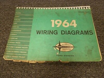 1964 ford f100 f150 f250 f350 pickup truck electrical wiring diagram manual