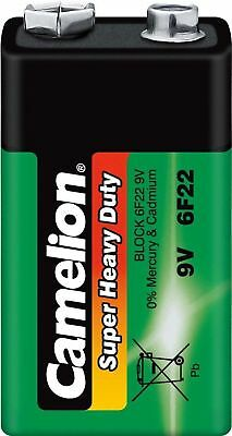 Camelion Super Heavy Duty Block Batteries 9 V 6F22 MN1604 (Pack of 12)
