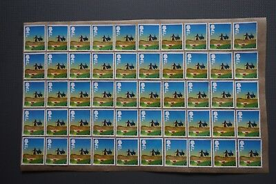 100 x 2nd Class Christmas On Donkey Unfranked Security Stamps Off Paper With Gum