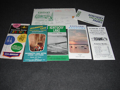 1965 Kentucky Brochures, Maps & Guides Mammoth Cave Kentucky Lake