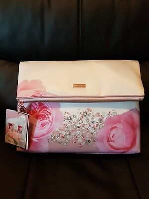 2a5bac7697a9a3 Ted Baker Blush Bouquet Cosmetic Gift Bag Ladies New