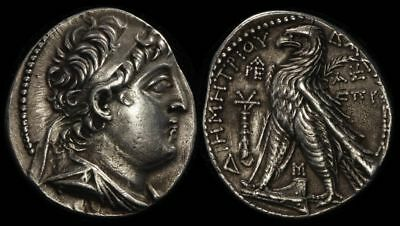 ANCIENT GREEK Seleucid Kings Syria Demetrios II 129-125BC AR Tetradrachm. S-7105