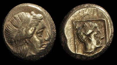 ANCIENT GREEK Lesbos, Mytilene, c377-326BC Electrum Hekte or Sixth Stater S-4250