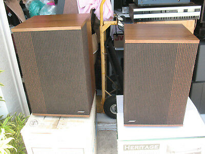 Merveilleux Vintage Bose Stereo Speakers 501 Series IV Wood Cabinets PAIR 1984  Excellent Con