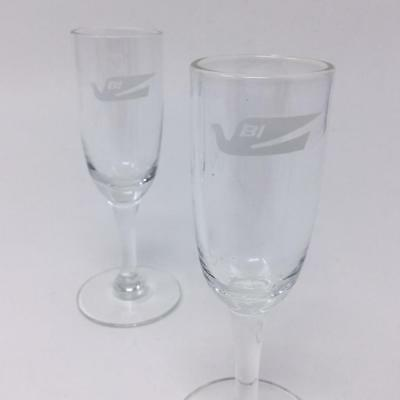 2 Braniff International Airlines Cordial Liquor Glass Vintage Mid Century