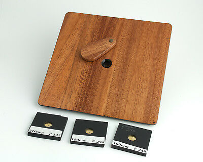 """Pinhole 6""""x6"""" Lens Board with 3 interchangeable pinholes •Free Shipping•"""