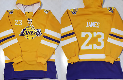 Lebron James LAKERS LA Los Angeles Sweater Hooded Sweatshirt Hoodie Hoody Jersey
