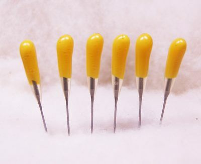 Felting Needle Tool Six Pack Yellow 40 Triangle All Purpose