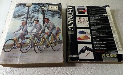 1981 Sears Roebuck and Co. Spring & Summer Midwest AND 1988 Annual Catalog