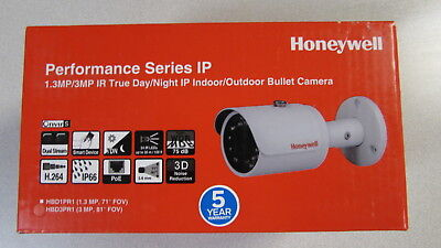 Honeywell HBD3PR1 3MP IP Bullet Camera Indoor Outdoor IR H.264 3.6mm POE -  NIB