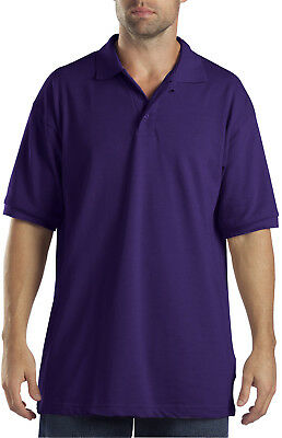 New Dickies Men's Short Sleeve Performance Pique Polo Shirt -Purple S/M/L/XL/2XL
