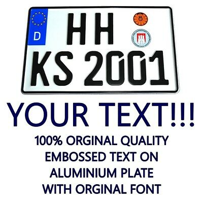 GERMANY GERMAN Custom Euro Personalized Car US Size License Number Plate
