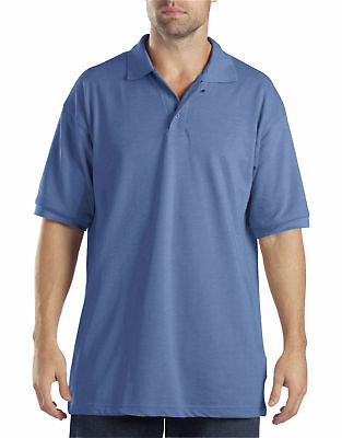 New Dickies Men's Short Sleeve Pique Polo Shirt -Light Sky Blue L/XL/2XL