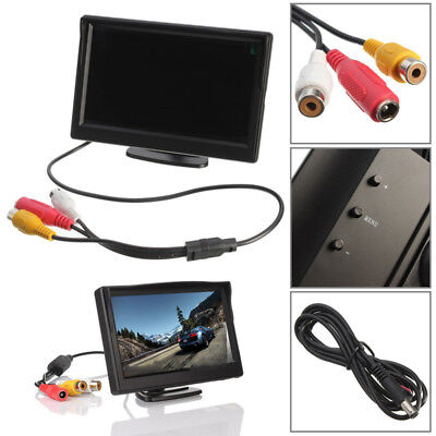 "5"" TFT LCD Car Rear View Rearview Monitor With Stand Reverse Backup Camera HD ~"