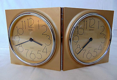 Seiko Vintage Double 5 Inch Quartz Clocks (Quality Made in Japan)
