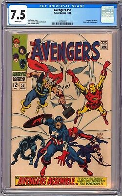Marvel Comics Avengers #28 - Cgc7.5 Vf- White - Origin Of Vision