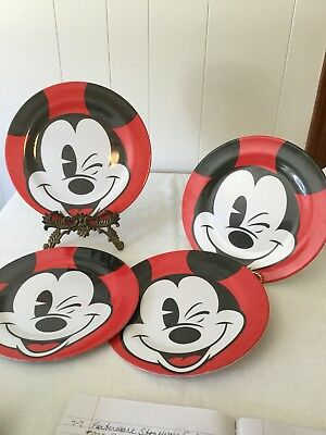 Zak Designs Plastic Mickey Mouse Plates, 4. Good Condition. Disney