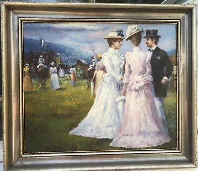 Beautiful 1950/60s French impressionist oil painting on panel by S.Picard