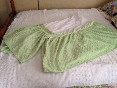 ZZ Baby Green Soft Minky Crib Skirt/Dust Ruffle EUC