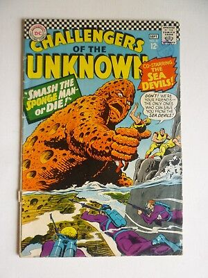 Challengers Of The Unknown 51 September 1966 DC Comics Silver Age