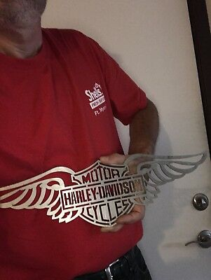 Harley Davidson Machine cut logo artwork metal Sign Stencil