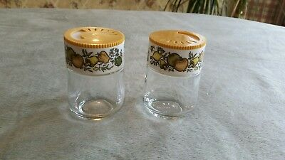 Vintage GEMCO Harvest Gold Glass Salt and Pepper Shakers ~ Made in USA