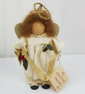 Longaberger Lizzie High Wood Doll Christmas Pageant Angel Handcrafted