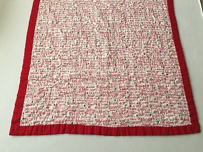 Handmade Baby Girl Quilt Christmas Pattern One Side Pink Pattern Other Side