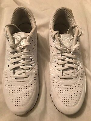 low priced 3a8a9 f651f NIKE AIR MAX 90 ULTRA MOIRE Size Mens 9 819477-111 TRIPLE WHITE RUNNING  Shoes