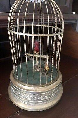 Antique German KD Karl Griesbaum Singing Bird Cage Music Box- Made In Germany