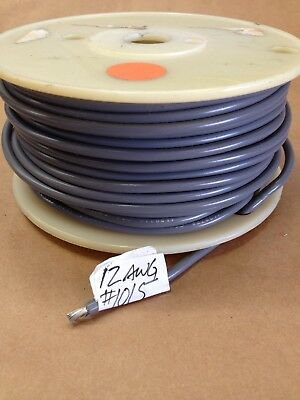 ( 98' Spool) UL1015 / 1230 (12Awg) Gray Stranded Cable Wire 600V AWM MTW TEW CSA