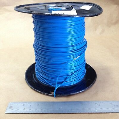 Est.( 1000' Spool ) Blue (18Awg) Solid Hook Up Wire