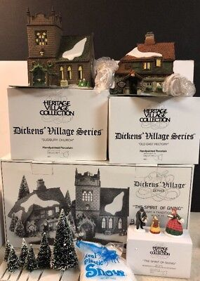 Dept 56 Dickens Village - The Spirit Of Giving - Start a Tradition Set 58322 MIB