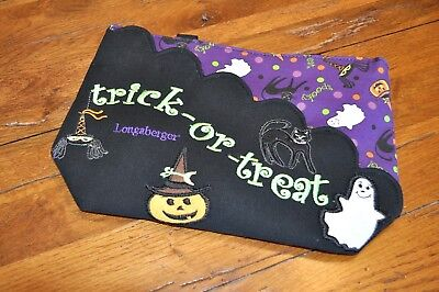 Longaberger Halloween Party Tote Purse With Scalloped Pocket NWOT