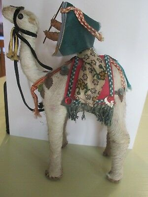 Antique Stuffed Camel With Rider Camel Hair 6 1/2 Tall Detailed Rare
