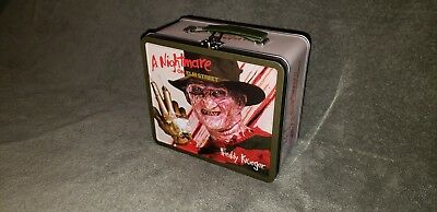 Nightmare On Elm Street Tin Tote Lunchbox New Line Productions Freddy Krueger