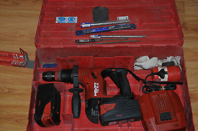 Hilti TE 6-A 36V Cordless Rotary Hammer+Batteries+Char+Case / Good Condition T#