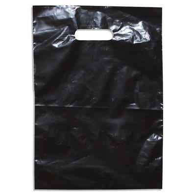 500 Bulk White Plastic Carry Bag 380 x 260mm + 60mm B/G retail bag show bag