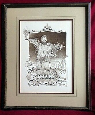 LIBERACE/RIVIERA ORIGINAL Drawing by Donn Knepp:18 X 24 SEPIA INK/Vintage Photos