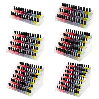 7 Tier Acrylic Nail Polish Lipsticks Eye Shadow Display Rack Shelf Stand Holder