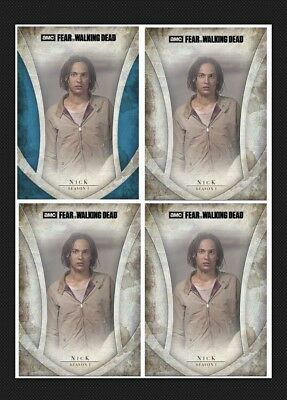 Nick-Fear Icons-Blue+3 Base Variants-Topps Walking Dead Card Trader