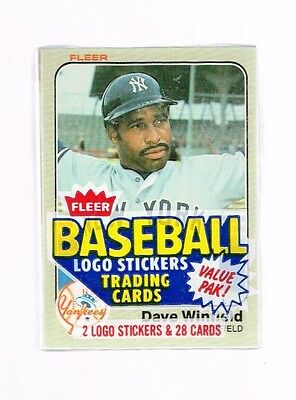 1983 Fleer Baseball Unopened Cello Pack DAVE WINFIELD ON TOP